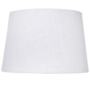 Medium White Tapered Drum Lamp Shade